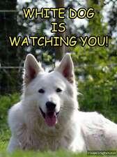 Weißer Schäferhund  -Metallschild-Aluschild-Warnschild