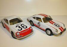 Joustra 2 x Porsche 911 aus Blech (1970er Jahre Frankreich) funktionieren beide