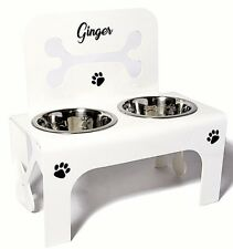 raised dog bowl feeder stainless steel bowls