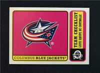 2018-19 18-19 Upper Deck UD O-Pee-Chee OPC Retro #571 Columbus Blue Jackets