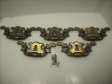Vintage Antique Brass Drawer Handles Pulls With Keyhole with screws