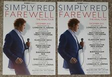 2 Flyers - Simply Red - 2010 Farewell - The Final UK Tour