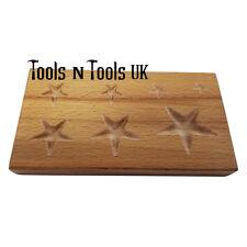 Legno forma di stella dapping Blocco gioielli in metallo in legno formando Shaping Tool 7 Taglie