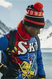 Ralph Lauren Polo 92 Active Downhill Skier Sweatshirt sz M  msrp:$179 snow beach