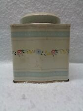 VINTAGE TEA TIN W/FLOWER PATTERN