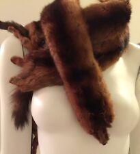 VINTAGE 4 Pelt Stole Full Body Fur Boa Scarf Collar Wrap Fox Red Mitchell's Balt