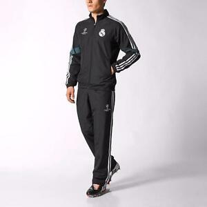 Adidas Mens Real Madrid FC Champions League Full Tracksuit Football Size S/2XL