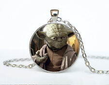 Star Wars Photo Cabochon Glass Tibet Silver Chain Pendant Necklace AAA2