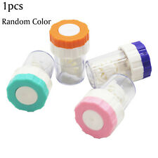 Rotatable Manual Contact Lens Cleaner Washer Cleaning Colored Lenses Case Eyes