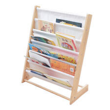 6 Pockets Kids Toddler Children's Bookshelf Book Rack Storage Organizer Fordable
