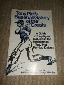 1977 Tony Piet's Baseball Gallery of the Greats Car Dealership Soft cover book