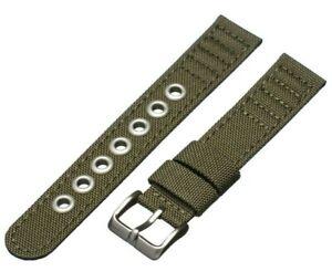 Citizen 18mm Watch Band for Eco-Drive BM8180-03E E101-S006597 Green Canvas Strap
