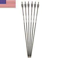 """6pcs 28""""inch 75cm Spine 500 Carbon Arrow Practice Archery F Recurve/Compound Bow"""