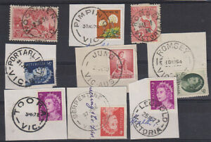 VICTORIA · 9 different POSTMARKS selected for quality · some scarcer (1325)