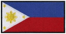 Philippines Flag Iron On Patch 3 x 1.5 inch Free Shipping (medium)