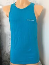 EMPORIO ARMANI Turquoise Tank Top Size M. BNIB WITH TAGS