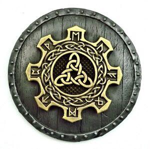 Viking decor triquetra pagan norse runes celtic metal wall art hanging sculpture