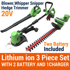 20V Lithium Cordless Leaf Blower Snipper Grass Hedge Trimmer Gardentool 2Battery