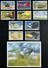 Uganda - 1990 - 50th Anniversary of II World War - Complete Set Unmounted Mint.