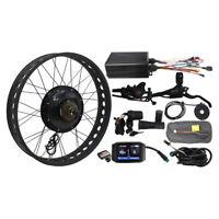 72V 1500W Electric Bike Fat Snow Tire Conversion Kit Front Wheel 20'' 24'' 26''