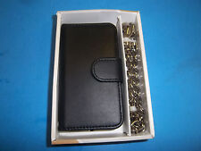 BLACK CHAIN WALLET / CREDIT CELL PHONE CASE FITS APPLE  I4 87506 FREE SHIPPING