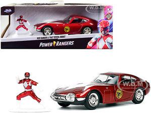 "1967 TOYOTA 2000GT RHD & RED RANGER ""POWER RANGERS"" 1/32 DIECAST CAR JADA 33074"