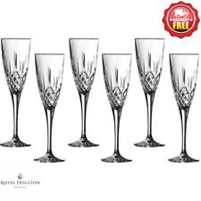 Royal Doulton Earlswood Crystalline Champagne Flute 150ml Set Of 6 Gles