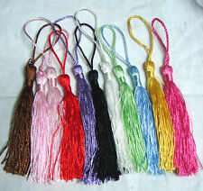 13 cm Tassels   20 or 50 single colour or mixed lots bookmarks key tassel  craft
