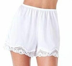 Women's Satin Bloomer Pettipant Short Slip S-2X 3 colors