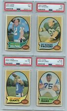1970 Topps 4 Card Lot All PSA Graded Inc. Griese, Nitschke, Tarkenton, Jones