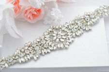 Milan Crystal Diamante Rhinestone beaded bridal sash wedding belt any colour