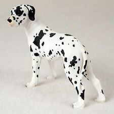Great Dane Hand Painted Collectible Dog Figurine Harlequin Uncropped
