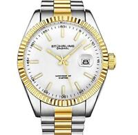 Stuhrling Original Men's 42mm Quartz Date Stainless Steel Bracelet Watch