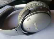 Silver Bose QC35 On-Ear Wireless Headphones - Works but has WEAR & TEAR - Read