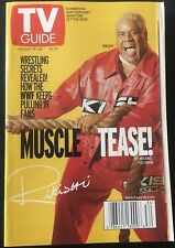 TV GUIDE: AUGUST 19 - 25 ~ WWF: RIKISHI ~ MUSCLE TEASE!