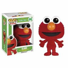 "EXCLUSIVE FLOCKED ELMO 3.75"" VINYL POP FIGURE FUNKO SESAME STREET"
