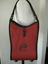NEW BOBLBE-E SHOULDER RED BAG HARD PLASTIC BAG WITH CLOTH COVERING