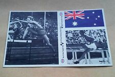 MUNICH 1972 OLYMPIC GAMES ESSO STICKER #24 AUSTRALIAN FLAG + #12 #18 FANNY B-K