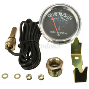Universal 52mm Car Mechanical Water Temperature Temp Meter Gauge 100~220℉ US