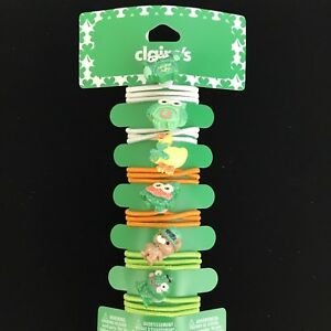 Claires Hair Accessories Girls St Patricks Day Charm Elastic Hair Ties Set of 6