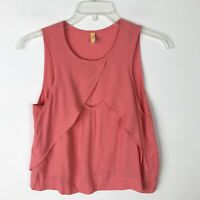 Free People Pink Flowy Keyhole Tank Top Pink - Extra Small XS