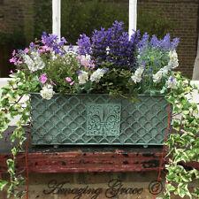 Antique French Vintage Style Metal Garden Planter Window Box Trough Plant Pot L