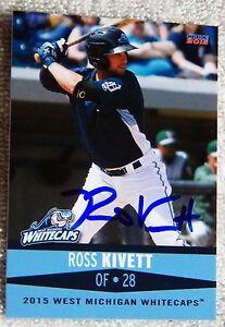 Detroit Tigers Ross Kivett Signed 2015 West Michigan Whitecaps Auto Card