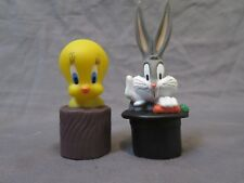 New Vintage Set of 2 Looney Tunes Rubber Finger Puppets Bugs Bunny & Tweety Bird