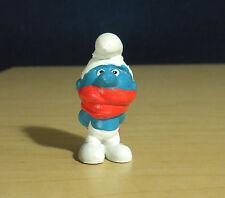 Smurfs Shiver Smurf Red Scarf Vintage Figure Christmas Toy PVC Figurine HK 20004