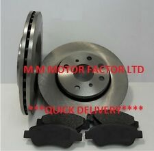 TOYOTA AYGO 1.0 + 1.4 HDi DIESEL (2005-2014) FRONT BRAKE DISCS AND PADS FULL SET