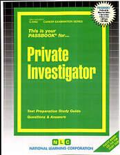 Private Investigator Exam Practice Test Passbook