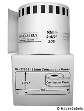 50 Rolls of DK-2205 Brother-Compatible (Continuous) Labels  [BPA FREE]