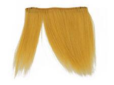 "CLIP-IN HUMAN HAIR FRINGE BANGS CYBERLOX MUSTARD YELLOW UNCUT 8"""