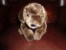 "11"" 2008 Barbie Mattel Barking Brown Lab Puppy Dog Plush Soft Toy Stuffed Animal"
